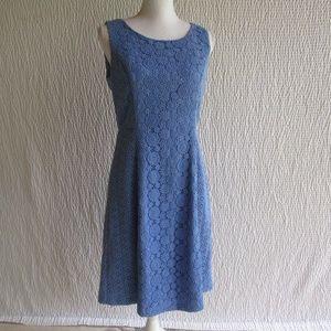 Talbots Blue Lace Eyelet Dress New Retails $199 4
